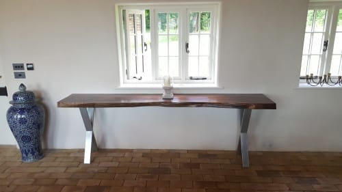 Furniture by Handmade in Brighton seen at Wilderness, Saxmundham - American Walnut Console Table