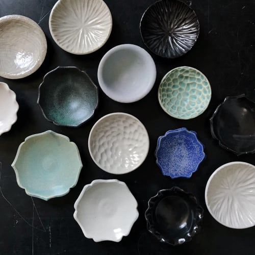 Ceramic Plates by Monsoon Pottery seen at Wherewithall, Chicago - Sugar Dishes