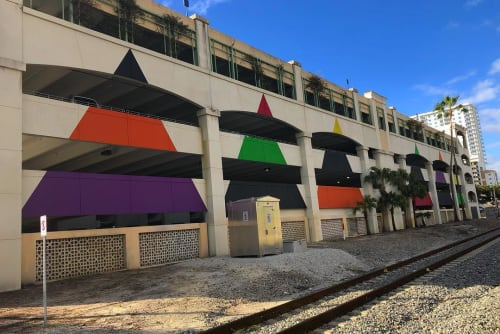 Street Murals by Rico Gatson seen at CityPlace, West Palm Beach - Mountain Top