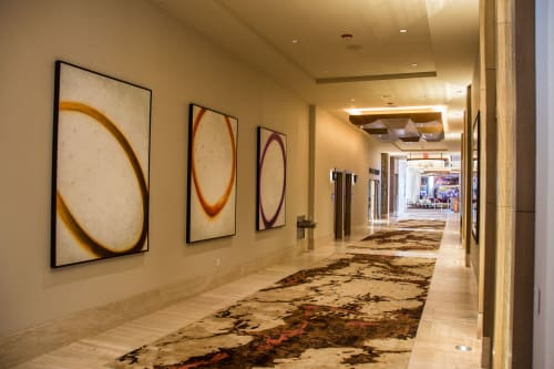Paintings by Allen Cox Studio seen at Graton Resort and Casino, Rohnert Park - Circulum Triptych