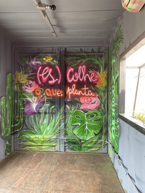 Murals by Mairanny Batista - Art No Boundaries seen at Vila Tarêgo - Mairanny Batista