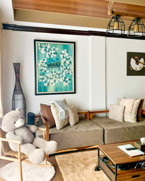 Paintings by The Pan Brush seen at Private Residence - Art Commission