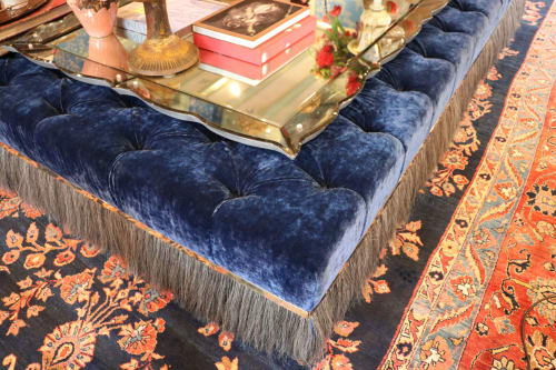 "Benches & Ottomans by Jonathan Rachman Design seen at SF Decorator Showcase 2019, San Francisco - ""Lady R"" Ottoman"