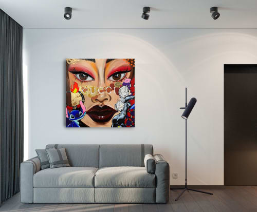 Paintings by ODARKA seen at Private Residence, Kyiv - Fiery Gucci
