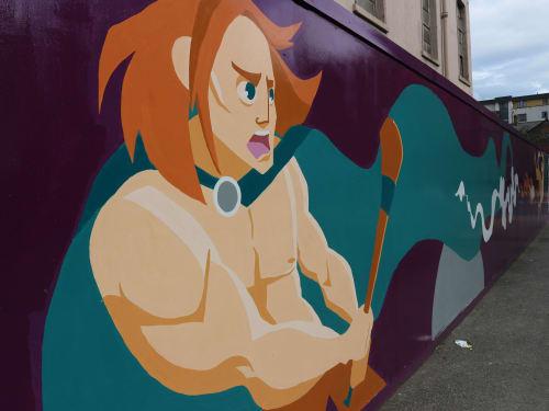Murals by Juliette Viodé Illustration seen at Sean Macdermott Street Lower, Dublin 1 - Breith finscéalta