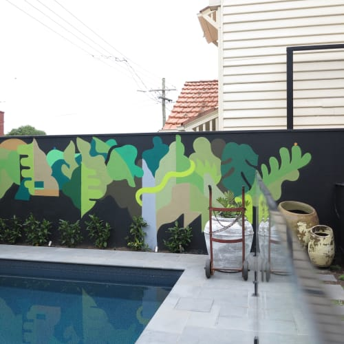 Murals by FIKARIS seen at Private Residence, St Kilda - Inner Growth