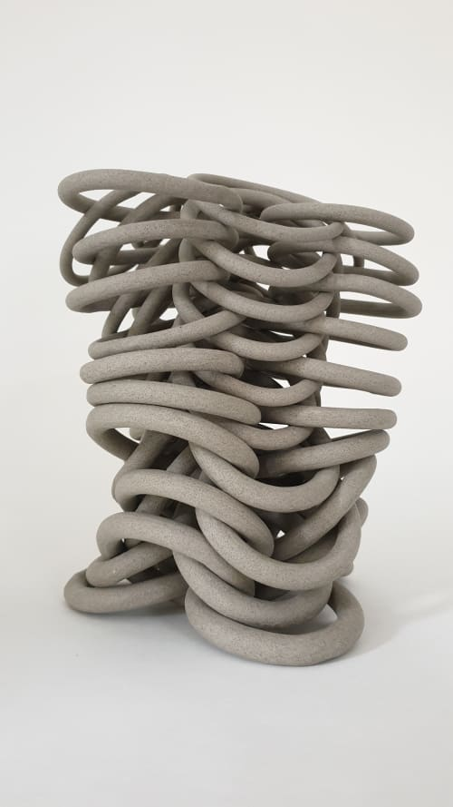 Sculptures by Cecil Kemperink seen at Private Residence, Paris - Rhythm stoney grey