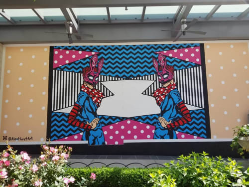 Murals by Alea Hurst seen at The Shops at Buckhead, Atlanta - Double the Luck Mural