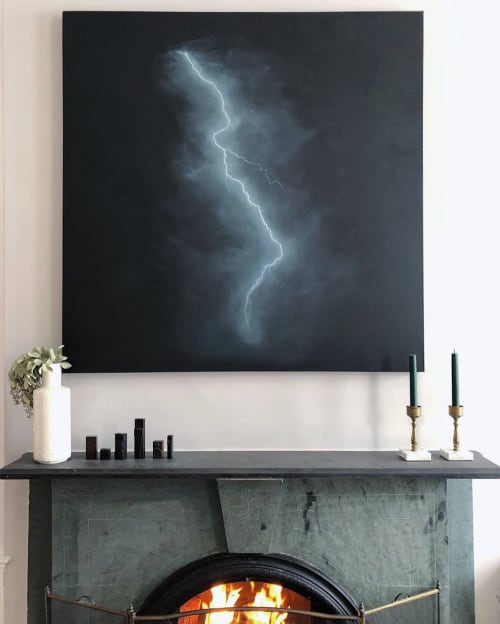 Paintings by Rachel Walter seen at Private Residence, Washington - Dark Storm Painting
