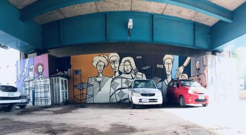 Murals by Galal Yousif seen at Khartoum, Khartoum - Mural