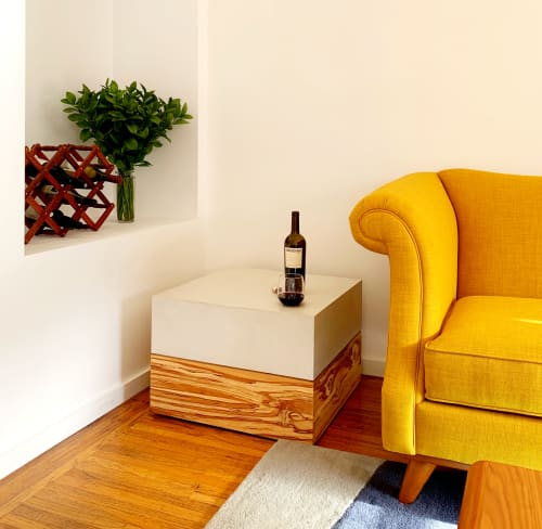 Tables by Woven 3 Design seen at Private Residence, Bernal Heights, San Francisco - Kube Concrete End Table