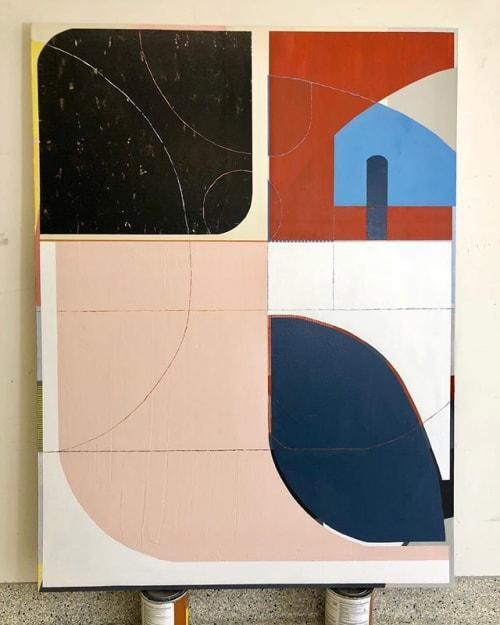 Paintings by TS ModernArt Studio seen at Private Residence - Manhattan Beach, Manhattan Beach - Made in the Shade