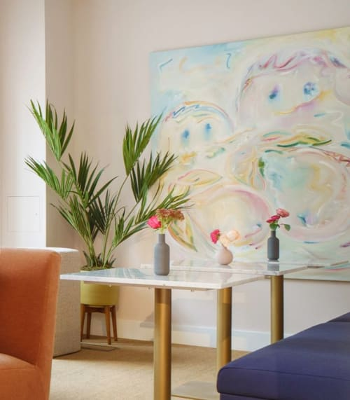"""Paintings by Emma Corrall seen at The Wing London, London - """"The Salon"""" Project"""