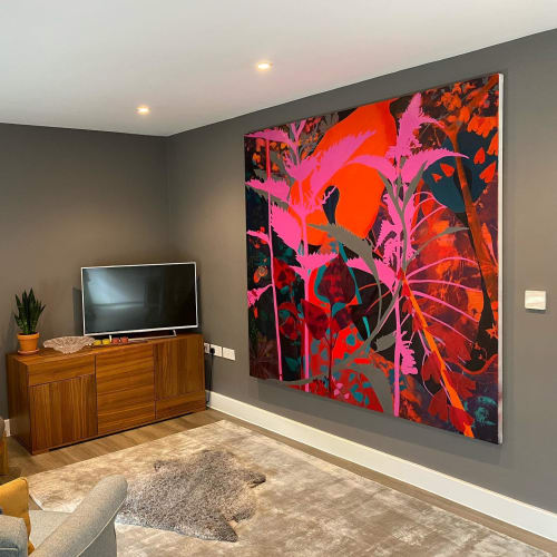 Paintings by NICK ASTON ART seen at Private Residence, London - BOTANIC WEED FLORA