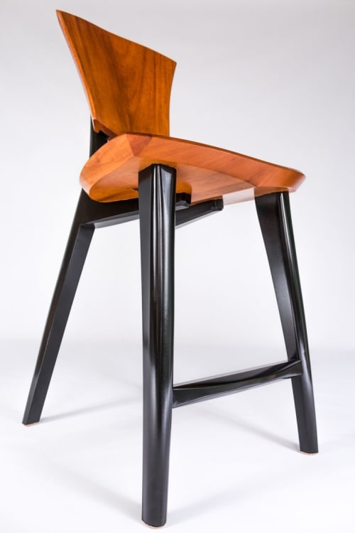 Chairs by Brian Boggs Chairmakers seen at Private Residence, Walnut Cove - Lily Bar stools