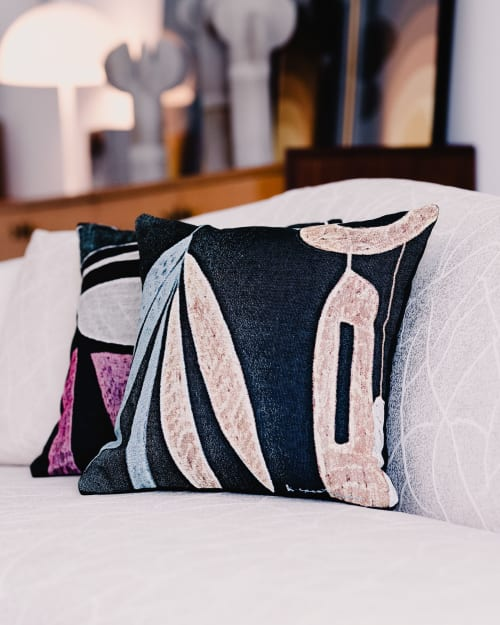 """Pillows by K'era Morgan seen at Private Residence, Los Angeles - """"Flora"""" Throw Pillow"""