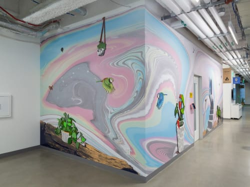 Murals by Ellierex seen at Facebook, San Francisco - Facebook Mural I