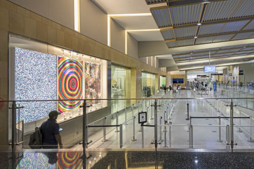 Murals by Cheryl Sorg Studio seen at San Diego International Airport, San Diego - Forces of Nature installation