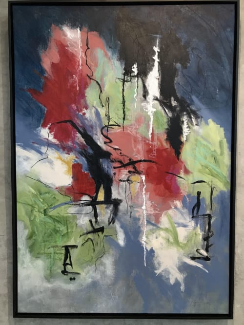 """Paintings by Karen Goetzinger seen at Shenkman Arts Centre, Ottawa - """"Beauty in the Inconsequential"""" - Shenkman Arts Centre, LaLande + Doyle Exhibition Space"""