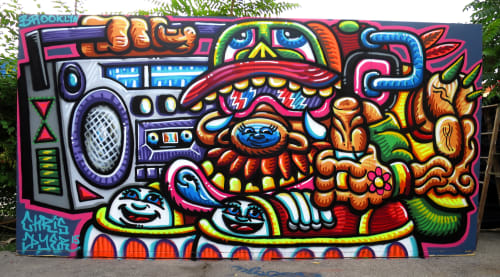 Street Murals by Chris Dyer seen at Brooklyn New York, Brooklyn - Ugly But Happy
