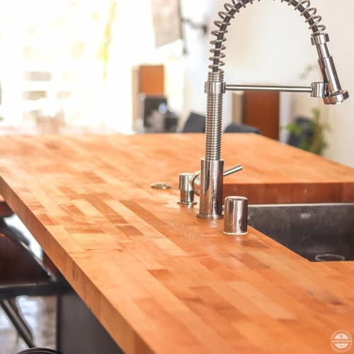 Furniture by HENNEYDESIGNS seen at Private Residence - Playa del Ray, Los Angeles - Butcher Block Kitchen Island