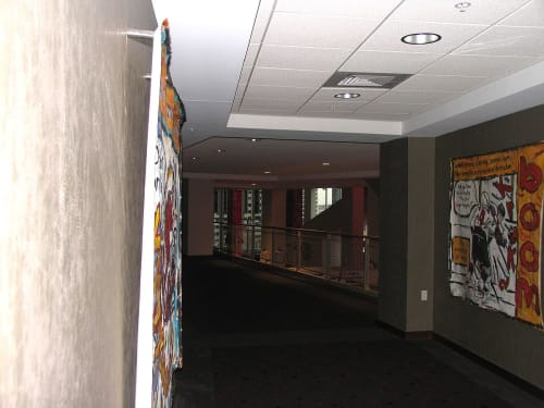 Paintings by An Artist Life seen at 25 Lafayette St, Newark - Prudential Center NHL Hockey sports paintings for New Jersey Devils