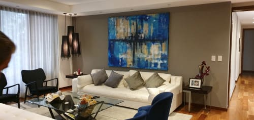 Paintings by Mod Cardenas seen at Private Residence - original painting in private collection.