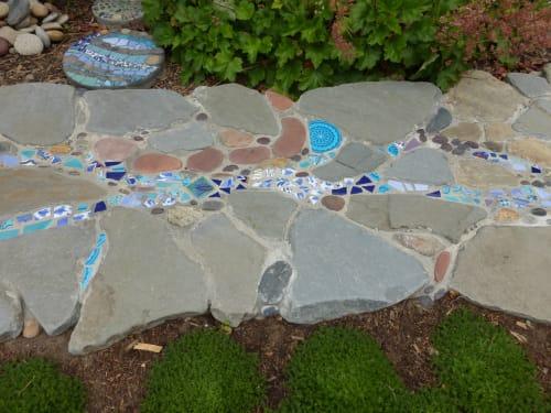 Tiles by Bethpurcellmosaics seen at Private Residence, Santa Cruz - Stone and Tile Driveway