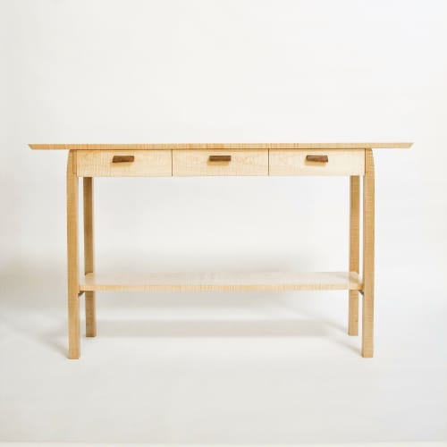Tables by Mokuzai Furniture seen at Private Residence - Entry Console Table with Narrow Drawers