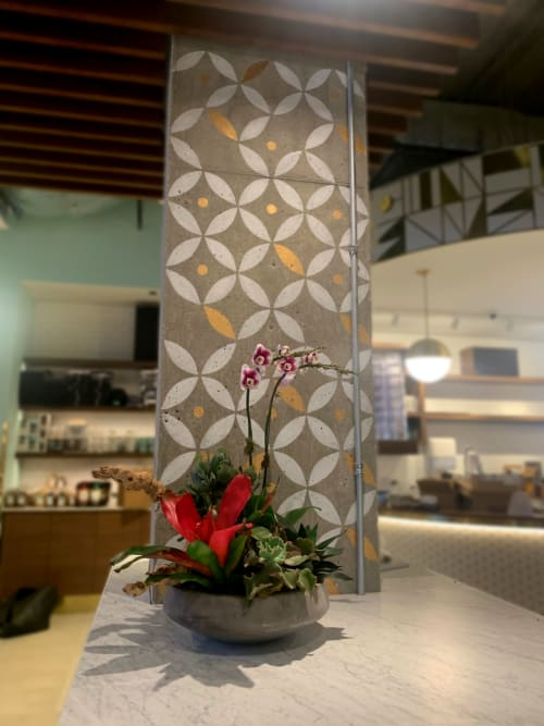 Interior Design by DesignScout seen at Goddess and the Baker 44 E Grand, Chicago - Custom Painted Statement Murals