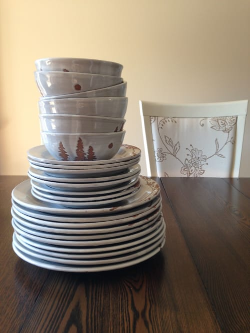 Ceramic Plates by Dresser Clay and Design seen at Private Residence, Simcoe - Sherry Dresser