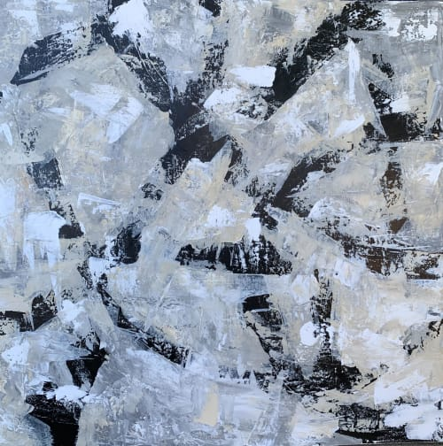 Paintings by BenFlunoArt seen at Private Residence, Highland Park - Monochromatic Mind