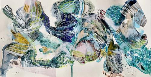 Paintings by K'era Morgan seen at Los Angeles, Los Angeles - Serpent Series III