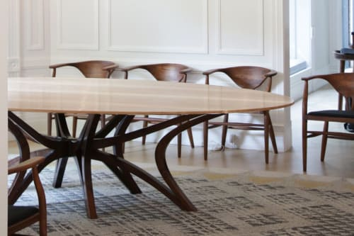 Tables by Drake Woodworking seen at Private Residence, Chicago - Breheny Dining Table