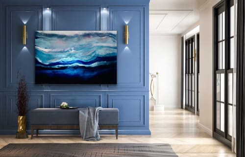 Paintings by Melissa Renee fieryfordeepblue  Art & Design seen at Private Residence, North Palm Beach - Arctic Adventure
