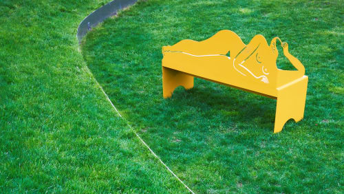 Benches & Ottomans by Kaye Blegvad seen at Inside/Out - The Vale Park, Brooklyn - Reclining Nude Bench