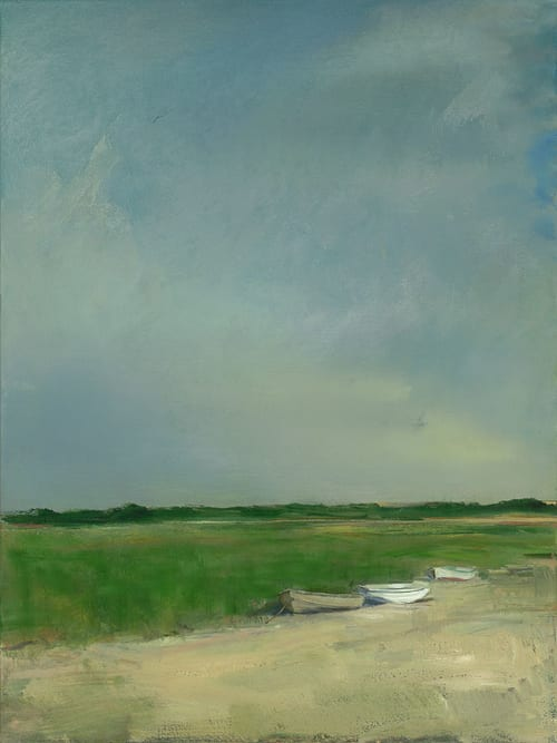 "Art & Wall Decor by YJ Contemporary seen at East Greenwich, East Greenwich - Anne Packard ""Three Boats"""
