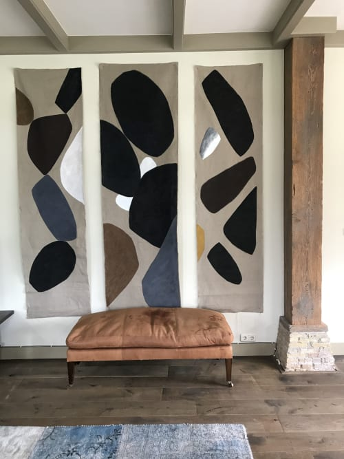 Paintings by sandi gehring seen at Private Residence - linen panels