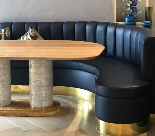 Tables by Porcelain Bear seen at Private Residence, Melbourne - Metro Dining Table