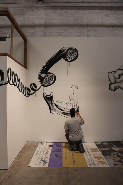 Murals by Max Neutra seen at The Center for Contemporary Arts, Santa Fe, Santa Fe - Render Bender Mural