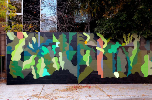Street Murals by FIKARIS seen at Private Residence, Footscray - In the Jungle