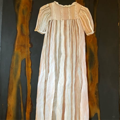Paintings by Megan Hurdle Fine Art seen at Private Residence, Memphis - Christening Gown