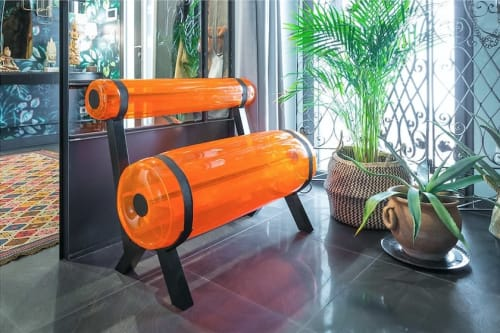 Benches & Ottomans by MOJOW seen at Private Residence, Tours - ZIBA BENCH 1m
