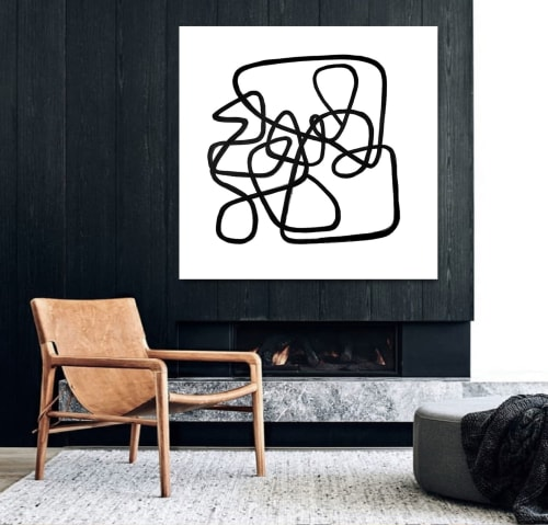 Paintings by Linnea Heide contemporary fine art seen at Asheville, Asheville - 'FELiX' original abstract painting by Linnea Heide