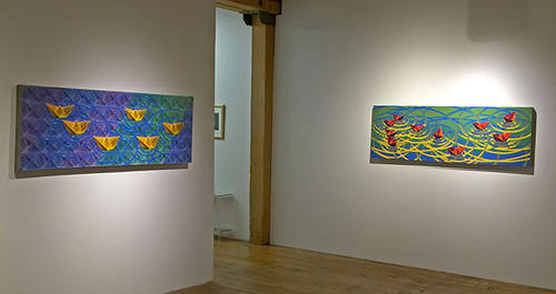 Paintings by Jose Agustin Andreu seen at The Bridgeport Art Center, Chicago - Exhibition of Boatscapes series and Hope, Memory and Desire
