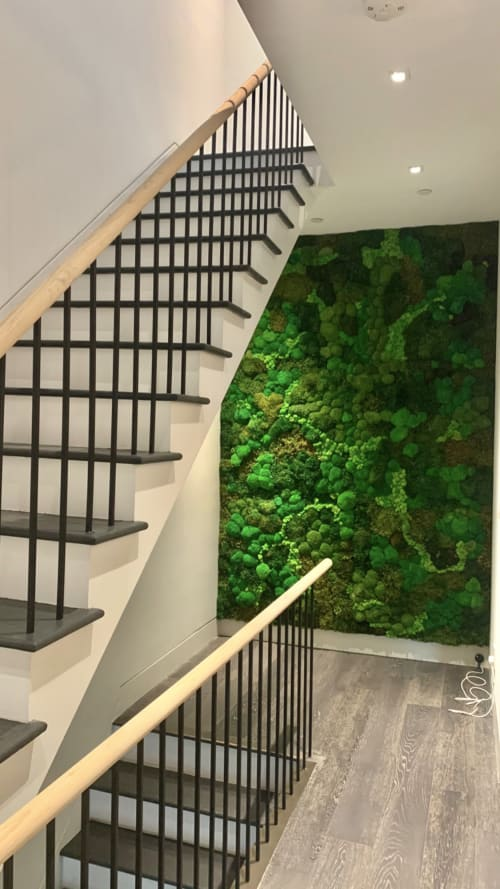 Art & Wall Decor by MossBoss NYC seen at Private Residence, New York - Custom Moss Wall