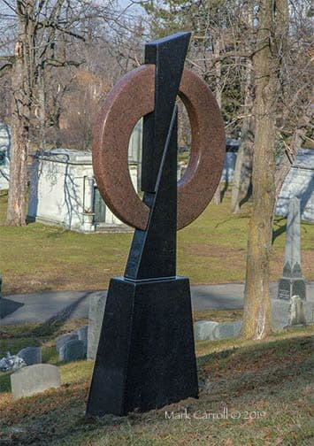 Public Sculptures by The Sculpture Studio LLC seen at Forest Lawn Cemetery, Buffalo - Yin and Yang