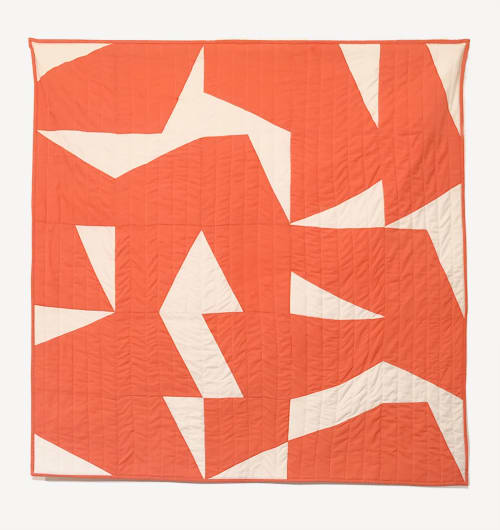 Linens & Bedding by Studio Prismatic seen at Creator's Studio, Portland - Pieces of Light Quilt in 100% Organic Cotton - Coral