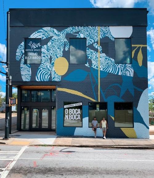 Murals by Tellas seen at Summerhill, Atlanta - Mural