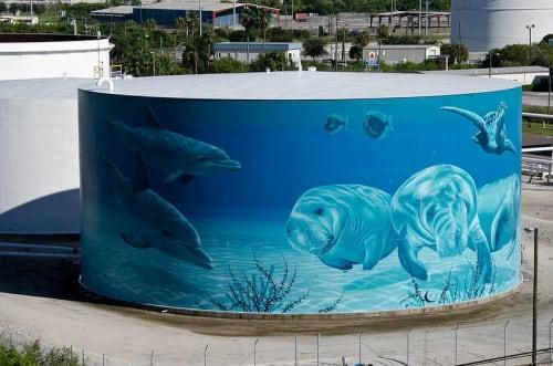 Street Murals by Eric Henn seen at Tampa, Tampa - Ocean Mural